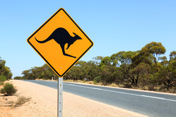 Australia, Kangaroo warning sign