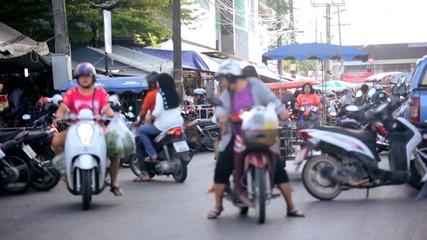 Motor bikes used by locals market, Phuket, Thailand