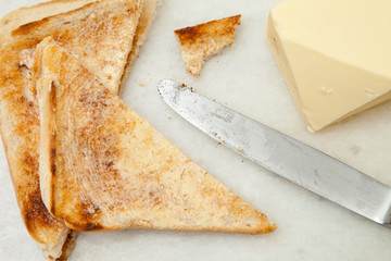 Slices Of Toast And Butter