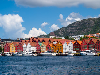 View of Bryggen in Bergen
