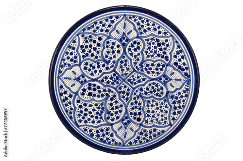 Leinwanddruck Bild Oriental Tunisian Plate