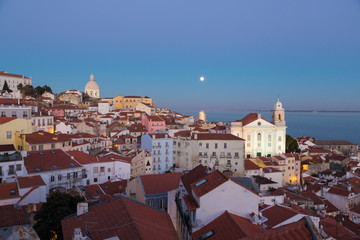 Lisbon, Portugal, Europe - (Sta.Justa)viewpoint to downtown Lisb