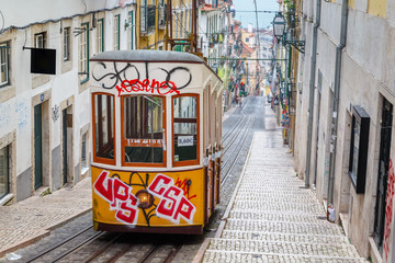 "Lisbon, Portugal, Europe - View from ""Bairro Alto"" tramway"