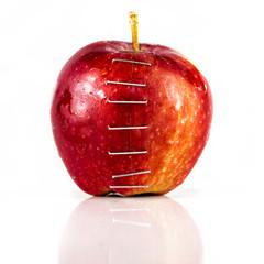 Apple stapled together