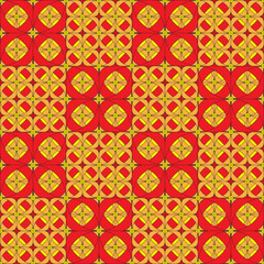 seamless ornament like colored tiles