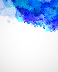 Abstract artistic watercolor blots