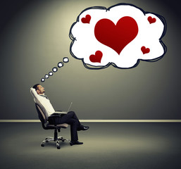 man thinking about love