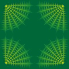 green ornamental frame from diamonds