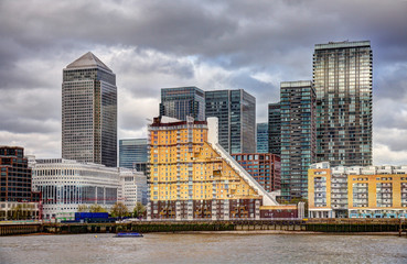 United Kingdom, London, View of Canary Wharf