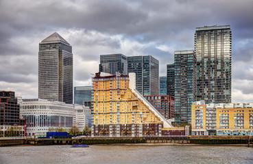 United Kingdom, London, View of Canary Wharf