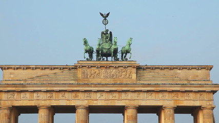Brandenburg gate close up in Berlin, Germany