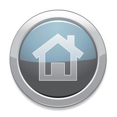 Home Sign Icon / Light Gray Button