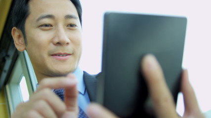 Ethnic Advertising Executive Tablet Technology Portrait