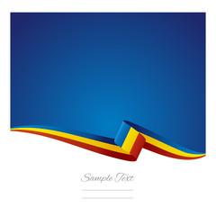 Romania flag background vector