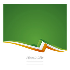 Ireland flag background vector
