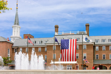 front of Alexandria city hall, Virginia, USA