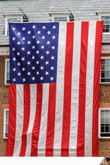 American largest flag in city hall of Alexandria