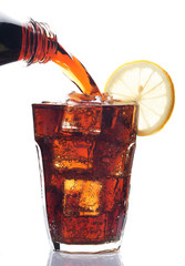 Glass of cola drink