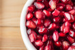 Pomegranate Seeds Close Up