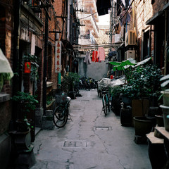 China, Shanghai, Narrow street
