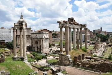 Tempel des Saturn - Forum Romanum - Rom - Italien