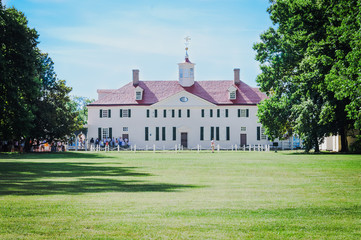 George Washington home in Mount Vernon, Virginia