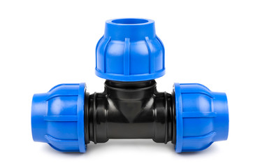 Plastic pipe connector