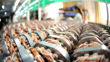Close up factory made electrical product, China