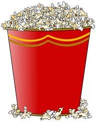 Giant bucket of popcorn