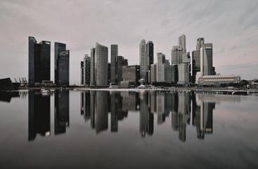 Singapore, Business district taken from Marina Bay waterfront promenade