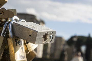love lock bridge milvio rome