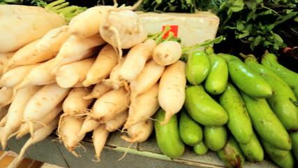 Freshly grown vegetables Phuket market, Thailand