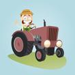 traktor landwirt bauer trecker landwirtschaft
