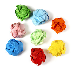 Multi-colored paper balls