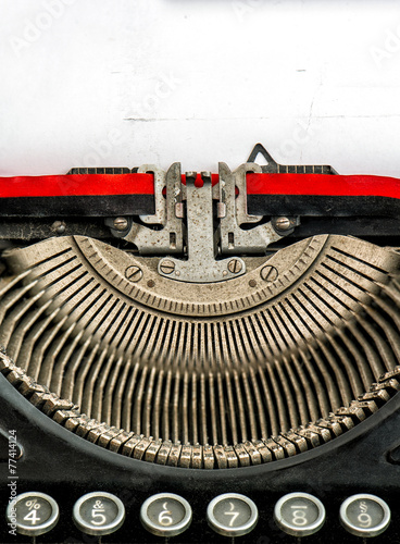 Deurstickers Retro old typewriter with space for your text