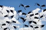 airborne black graduation hats