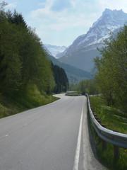 Norway, Winding road among mountains