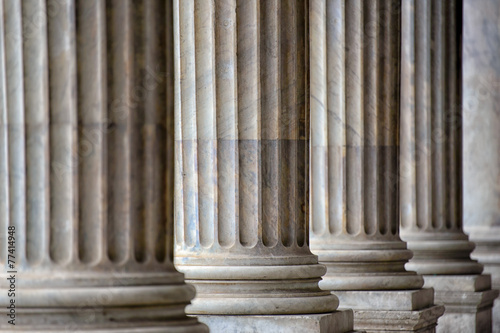Plexiglas Artistiek mon. Colonnade In Rome Close Up