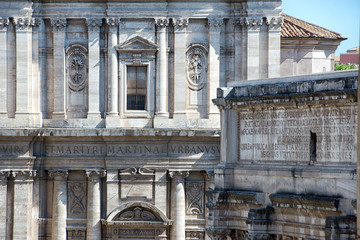 Roman Forum Arch of Titus, St. Martina e Luca Church