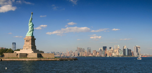 USA, New York State, New York City, View of Statue of Liberty