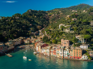 Aerial view of Portofino