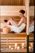 Leinwanddruck Bild - Woman in sauna