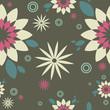 """Pattern dark gray """"Flower"""""""