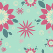 """Pattern turquoise """"Flower"""""""