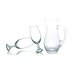 Empty glass jar on a white background.