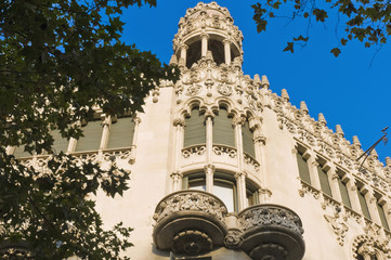 Building located on Passeig de Gracia at Barcelona, Spain