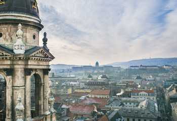 The view over Budapest, Hungary, from Saint Istvan's Basilica vi