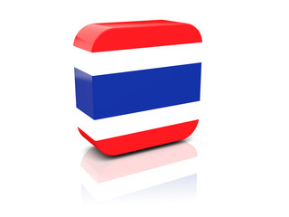 Square icon with flag of thailand