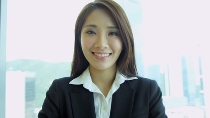Portrait Female Asian Chinese Business Advisor