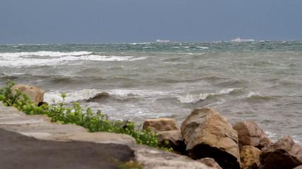 Very rough sea.